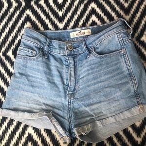 High rise jean shorts